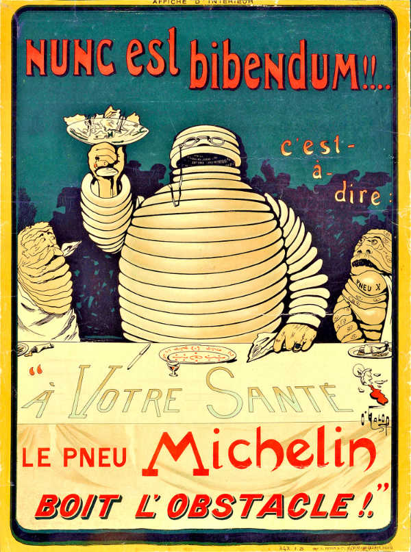 TSB transporte y logística Michelin Poster Bibendum 1898